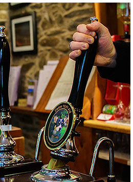 Traditional ales served at The Penrhos Arms.